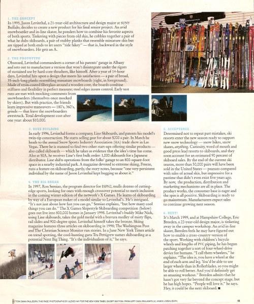 New York Times Magazine article Jason Levinthal & Line Skis pg2