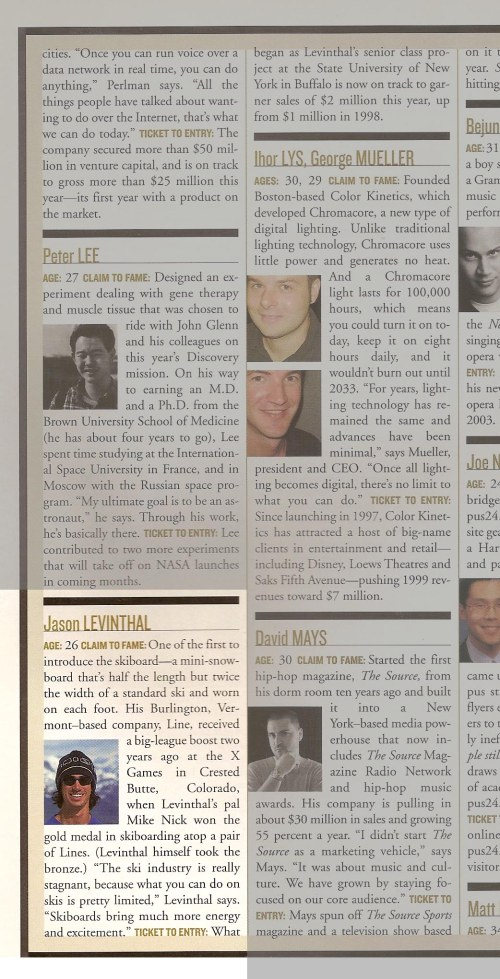 pov magazine jason levinthal article up and comers 2