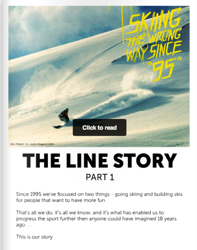 Line skis history part 1