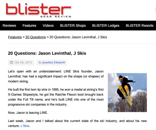 Blister gear review 20 questions with Jason Levinthal