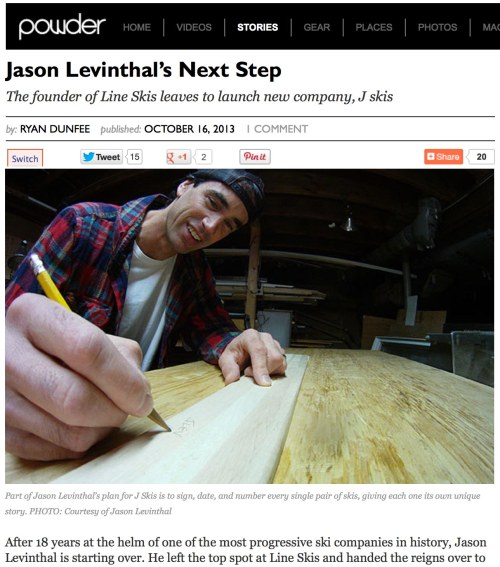 powder magazine interview with Jason Levinthal